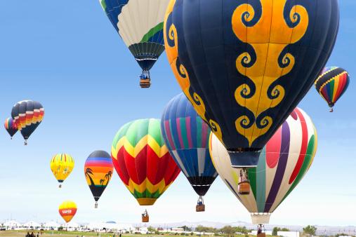 Albuquerque, USA - October 4, 2011: Hot Air Balloon Launch at the Annual Albuquerque, New Mexico Balloon Festival.