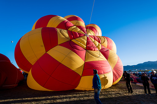 Albuquerque, New Mexico - USA - Oct 5, 2016: Hot air balloon Mass Ascension at the Albuquerque International Balloon Fiesta