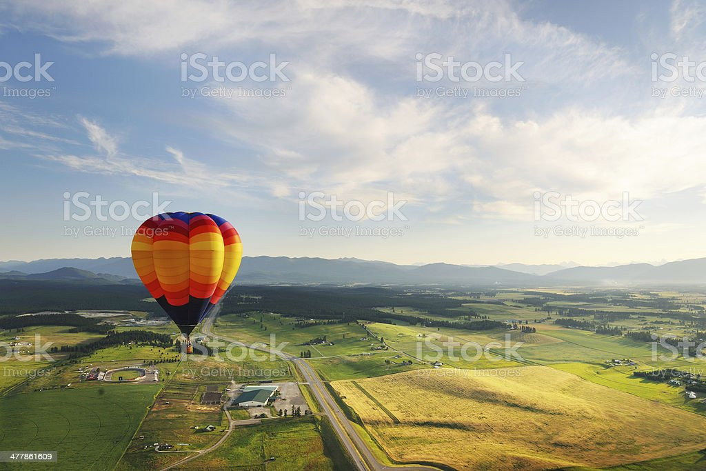 Hot Air Balloon Scenic stock photo