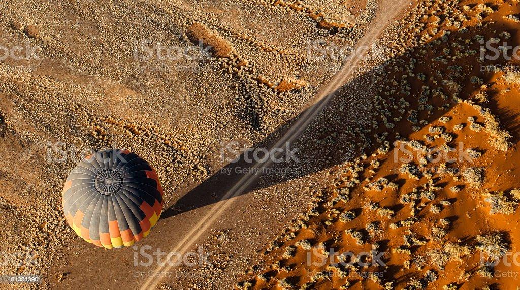 Hot Air Balloon & Shadow stock photo