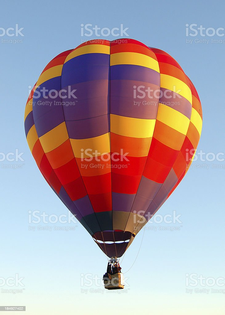 Hot Air Balloon soaring the sky royalty-free stock photo