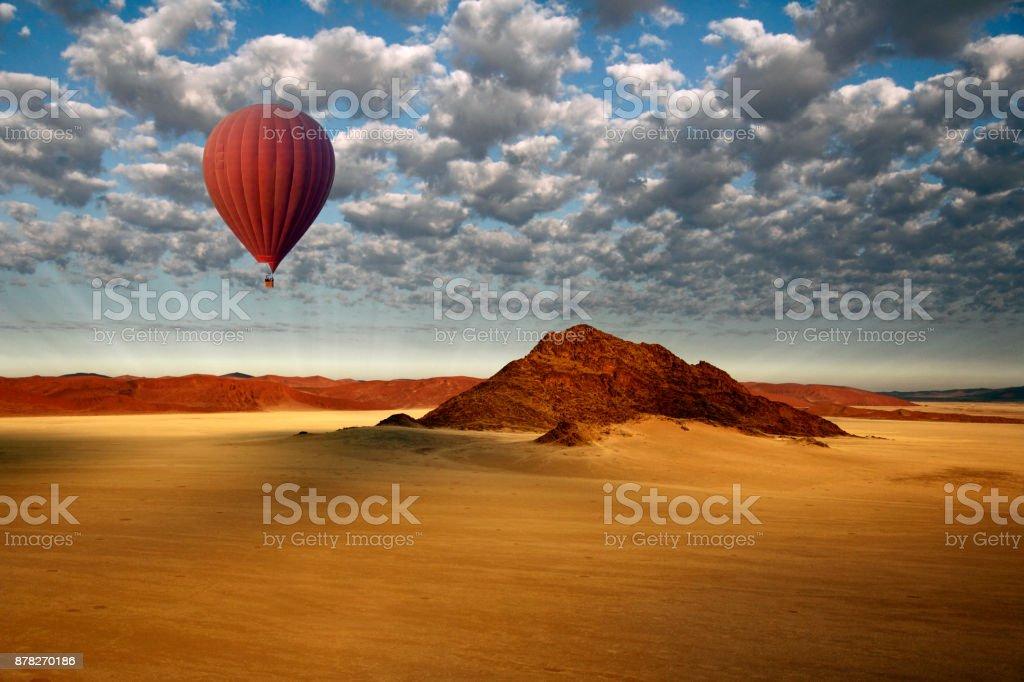 Hot Air Balloon - Sossusvlei - Namib Desert - Namibia stock photo