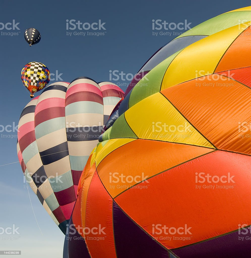 Hot air balloon stages 2 royalty-free stock photo