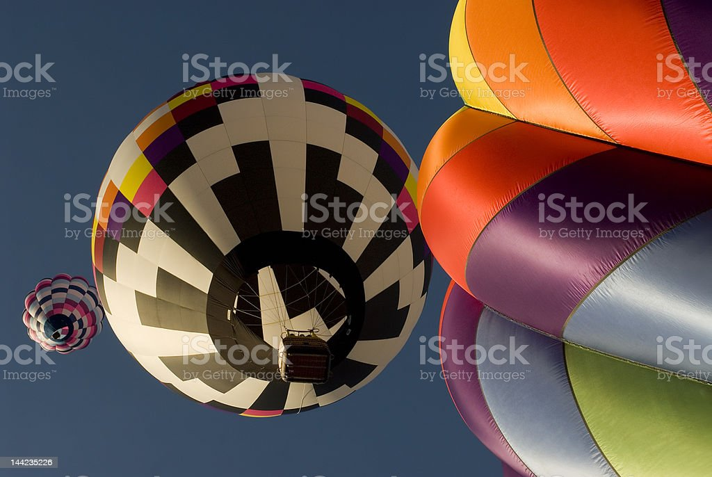 Hot air balloon stages royalty-free stock photo