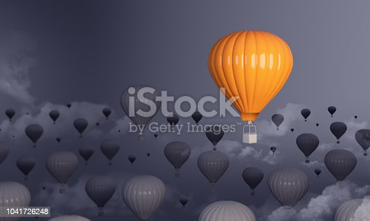 istock Hot Air Balloon Standing Out From The Crowd 1041726248