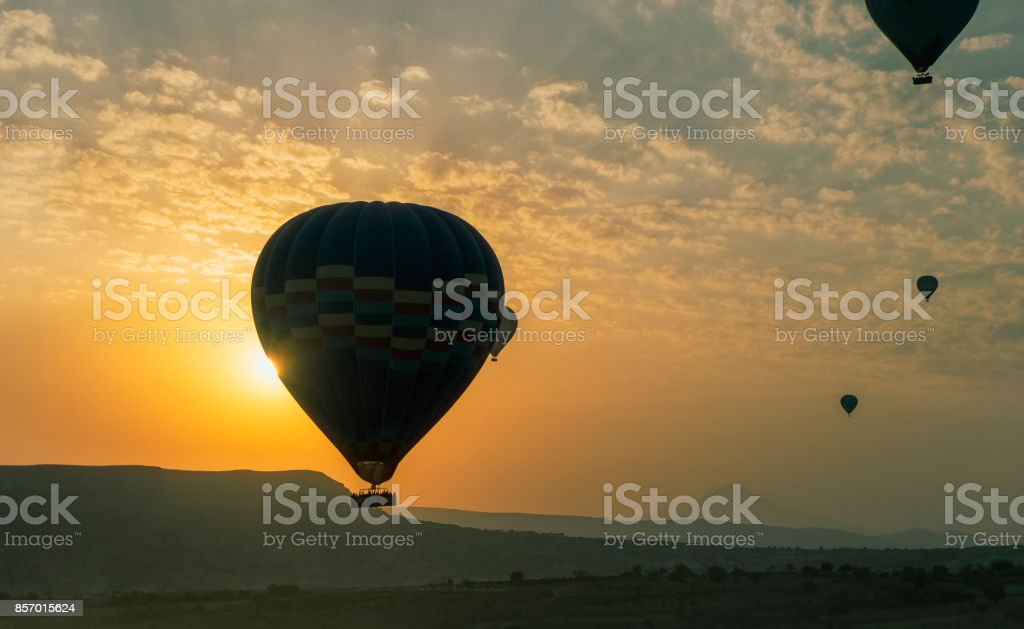 Hot Air Balloon sunrise stock photo