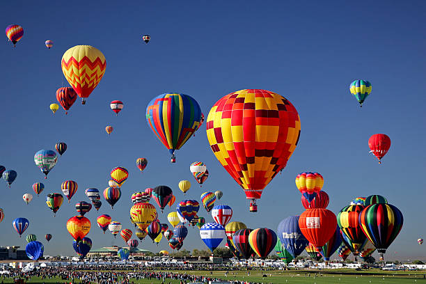 Hot Air Balloon Take-off stock photo