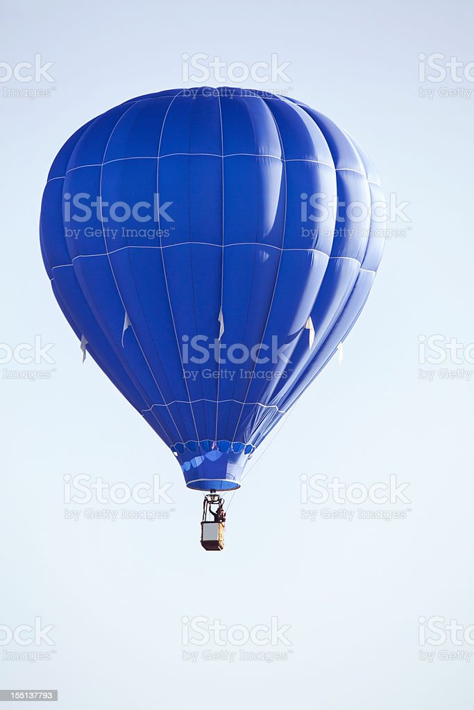 Hot Air Balloon up and away stock photo