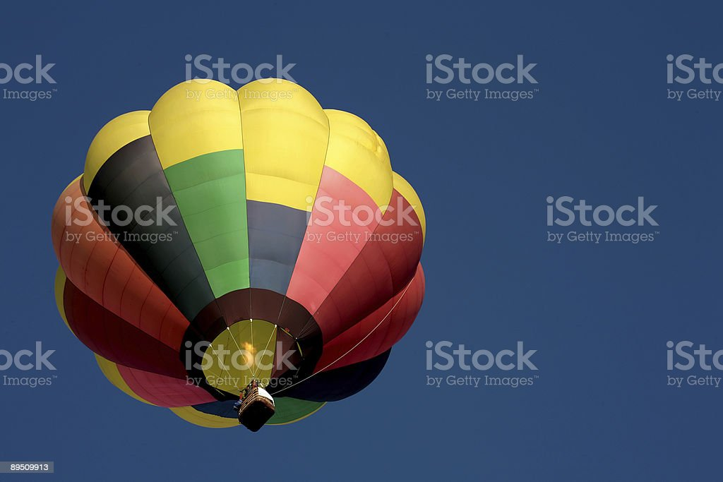 Hot air balloon viewed from below royalty-free stock photo