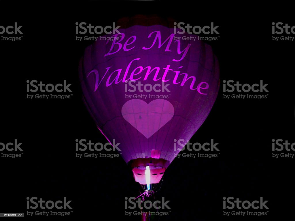 Hot Air Balloon with a Valentine message foto royalty-free