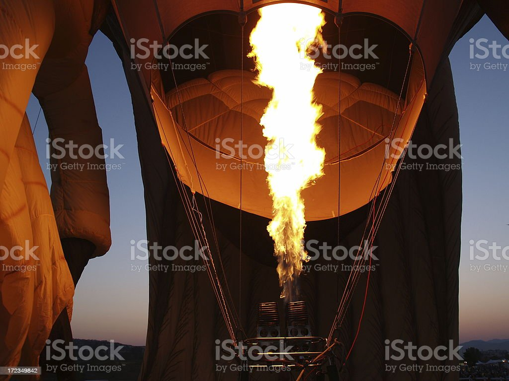 Hot Air Balloon With Heating Flame royalty-free stock photo