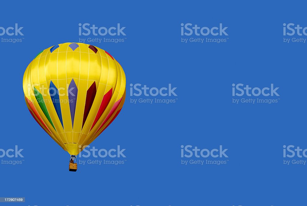 Hot Air Ballooning In A Painted Sky stock photo