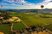 istock Hot Air Ballooning over Napa Valley, CA 1266820678
