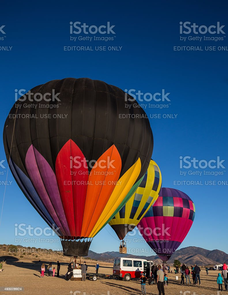 Hot Air Ballooning Over Northern California stock photo