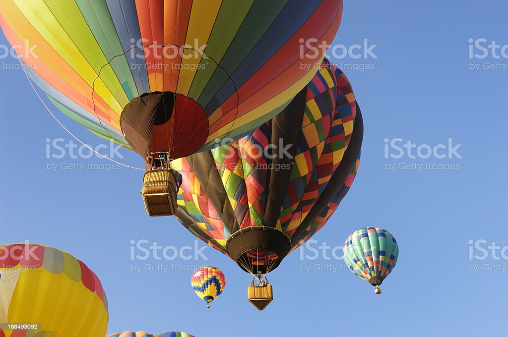 Hot Air Balloons Assending Into Sky royalty-free stock photo