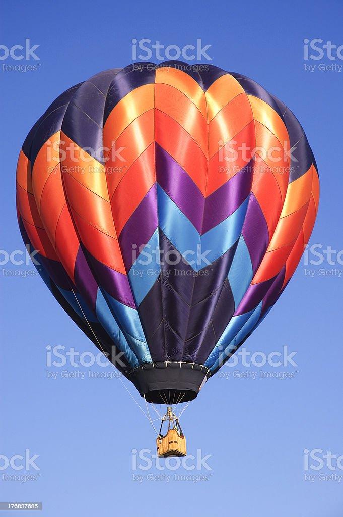 Hot air balloons at the Taos Balloon festival royalty-free stock photo