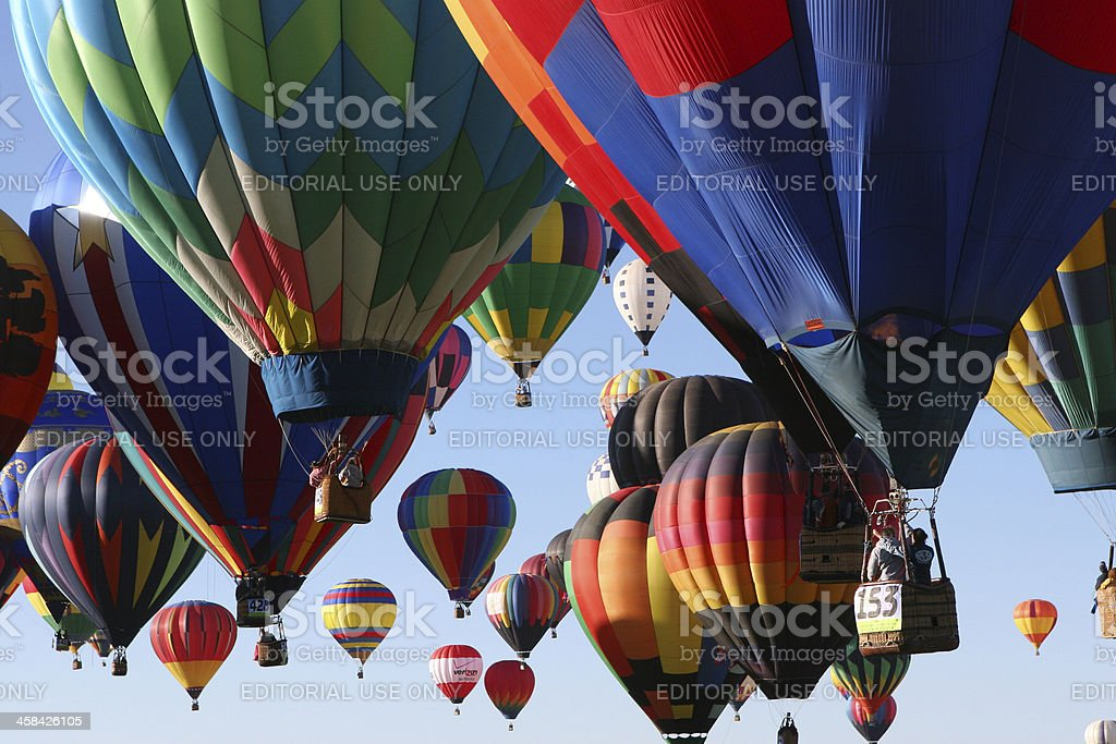 Hot Air Balloons Ballooning Festival Launch royalty-free stock photo