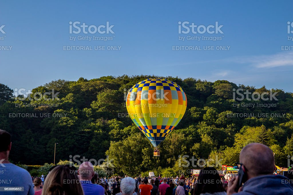 Hot Air Balloons Draw Crowds - Royalty-free Adventure Stock Photo