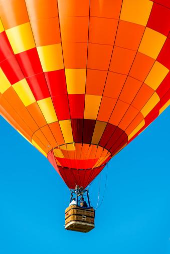 Albuquerque, New Mexico - USA - Oct 1, 2016: Hot air balloons fly at the Albuquerque International Balloon Fiesta