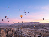Cappadocia, Hot Air Balloon, red and rose valley, Famous Place, Turkey - Middle East