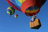 Hot Air Balloons going up