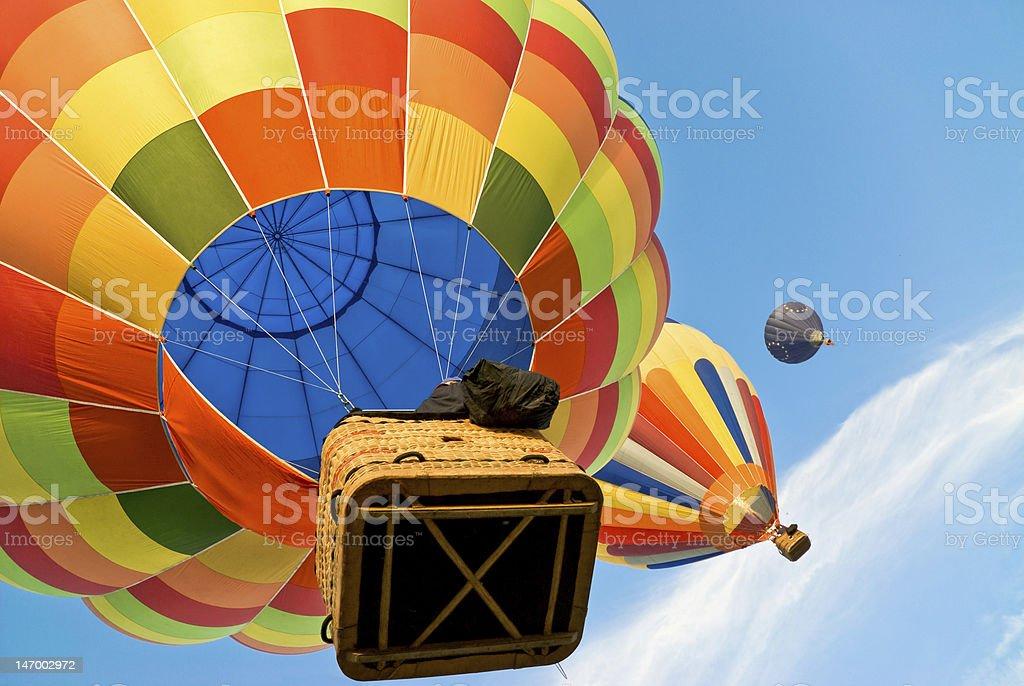Heißluftballon hoch in den Himmel - Lizenzfrei Abenteuer Stock-Foto