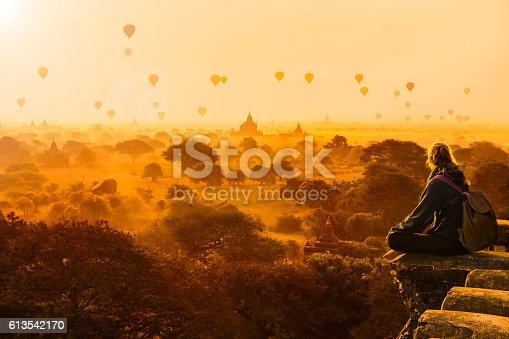 Hot air balloons in Bagan, Myanmar