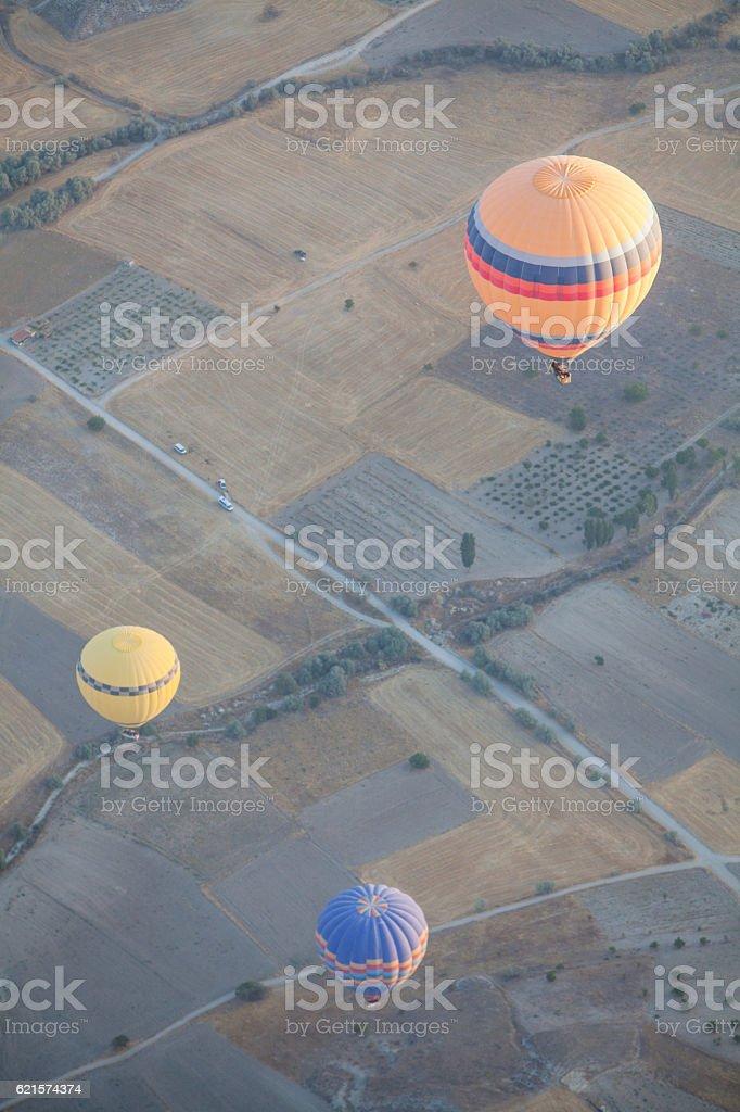 Hot air balloons de la Cappadoce photo libre de droits
