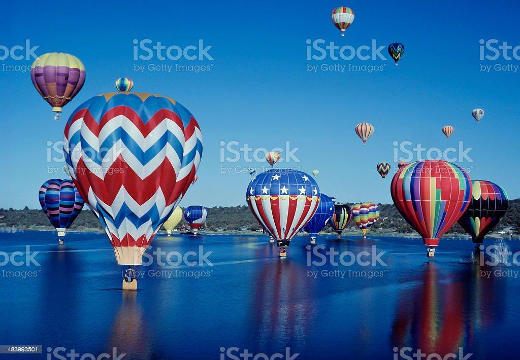 Hot Air Balloons in Farmington, New Mexico stock photo