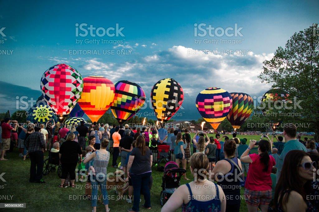 Hete lucht ballonnen in Frankenmuth (Michigan) - Royalty-free Alleen volwassenen Stockfoto