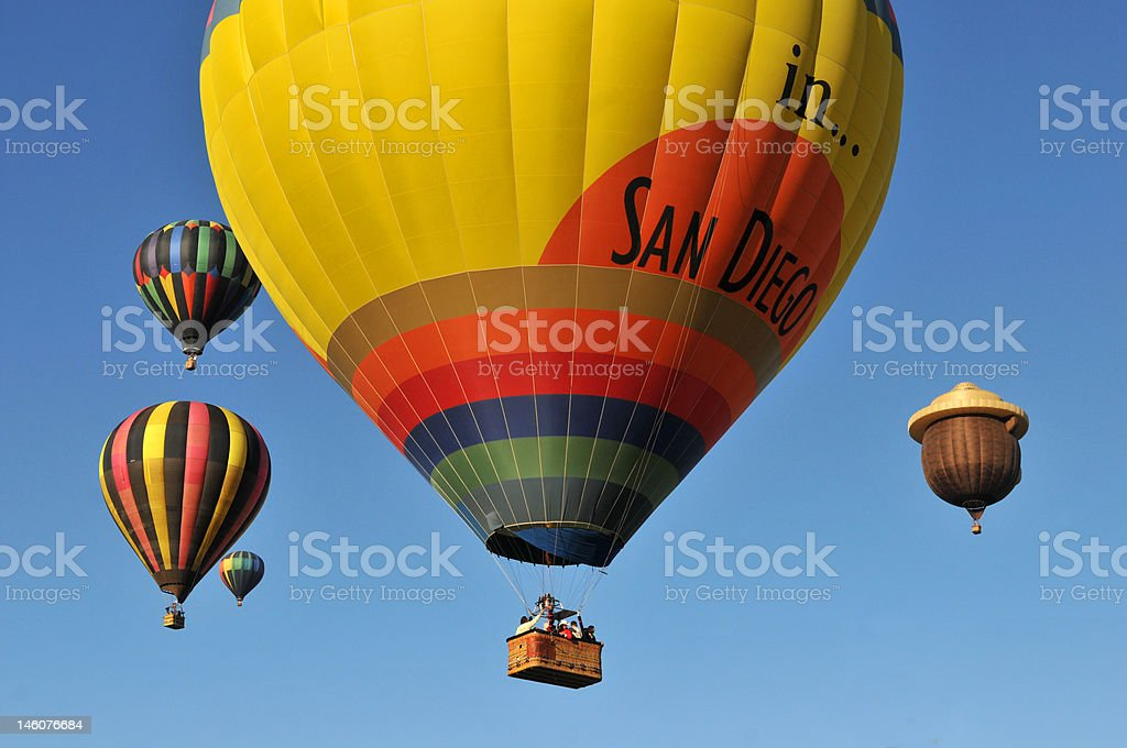 Hot Air Balloons In San Diego royalty-free stock photo