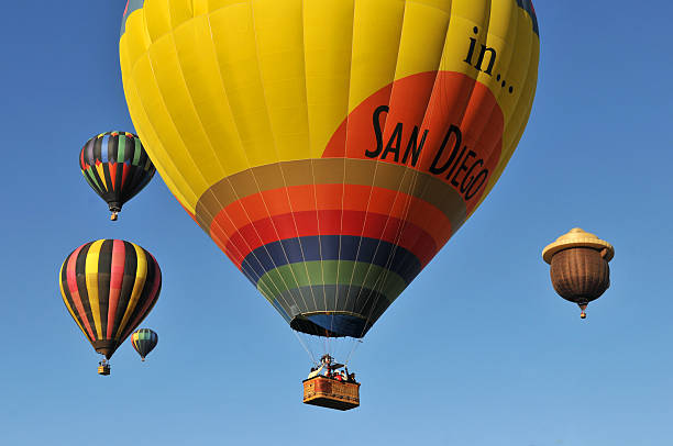 Hot Air Balloons In San Diego stock photo