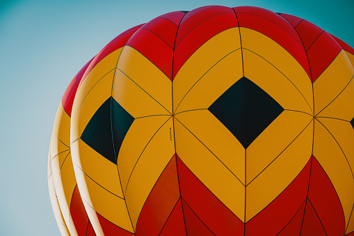 Hot air balloons at a balloon festival in the USA