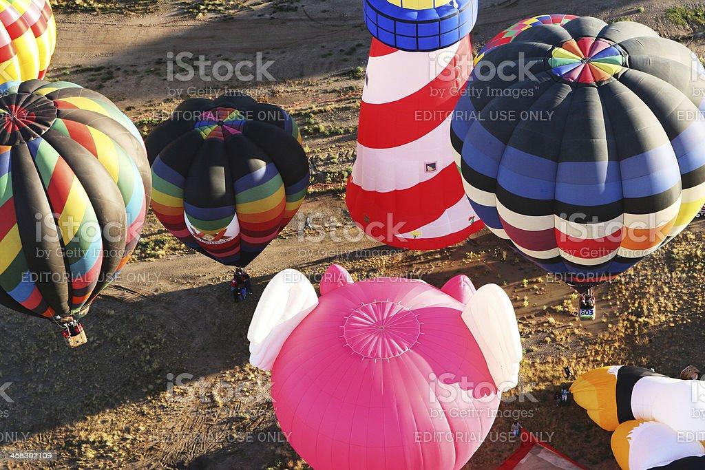Hot Air Balloons Landing royalty-free stock photo