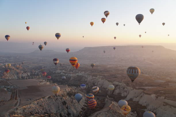 Heißluftballons Landschaft - Kappadokien – Foto