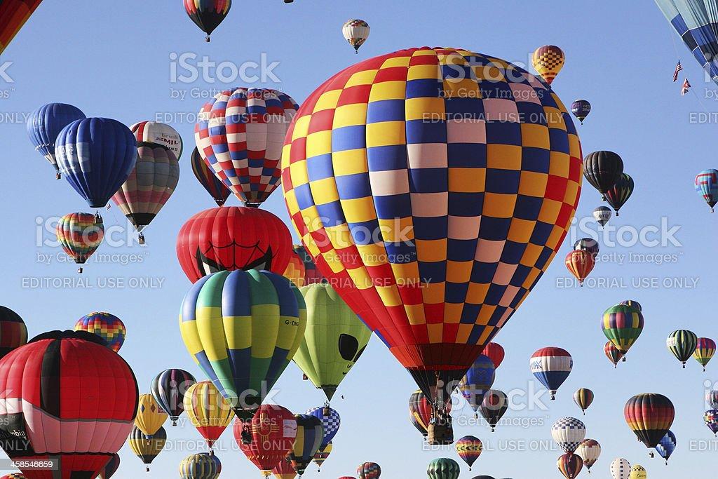 Hot Air Balloons Launch Ballooning Festival stock photo