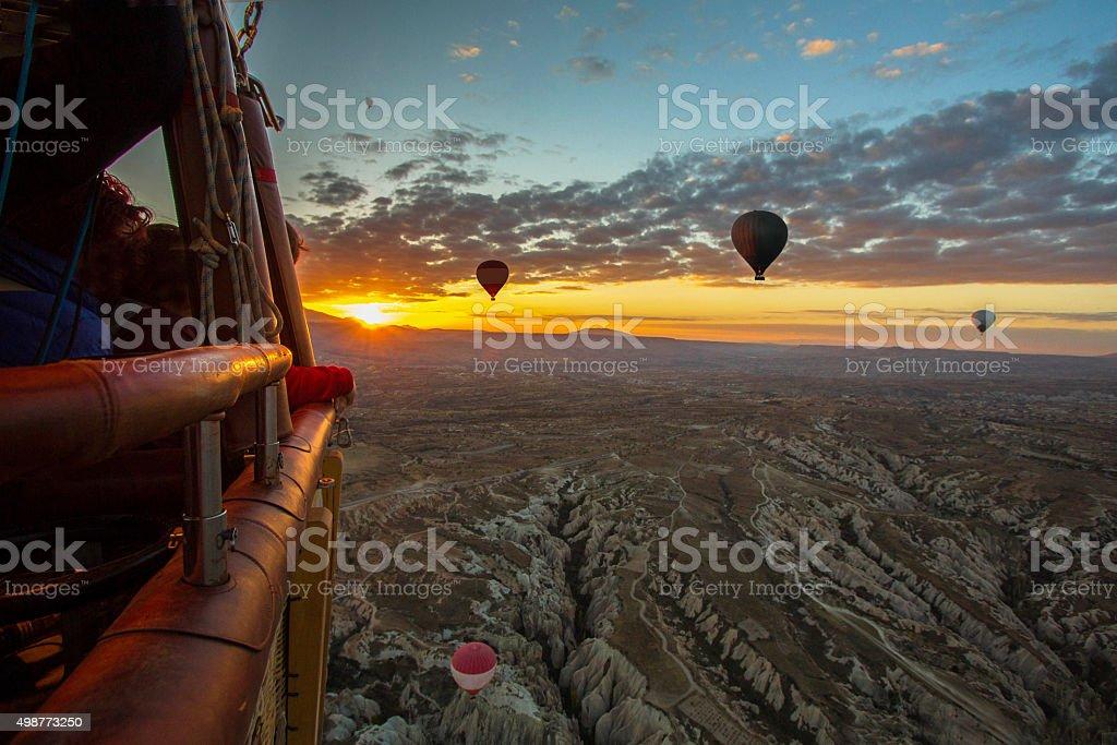 Hot air balloons of Cappadocia stock photo
