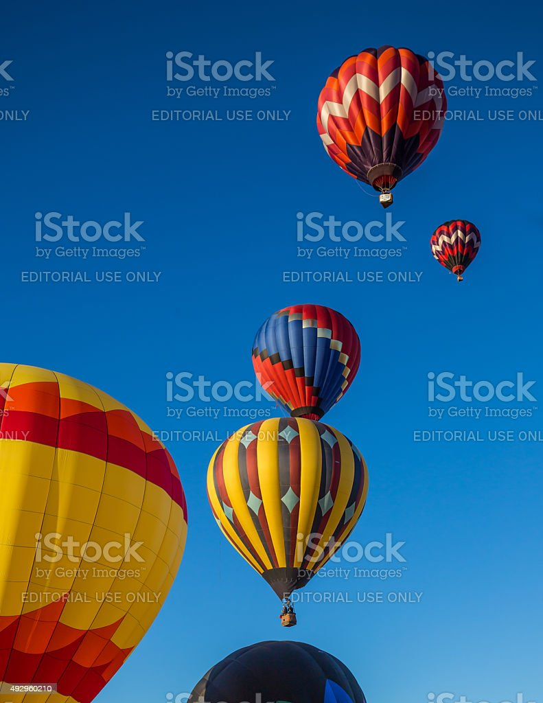 Hot Air Balloons Over Northern California stock photo