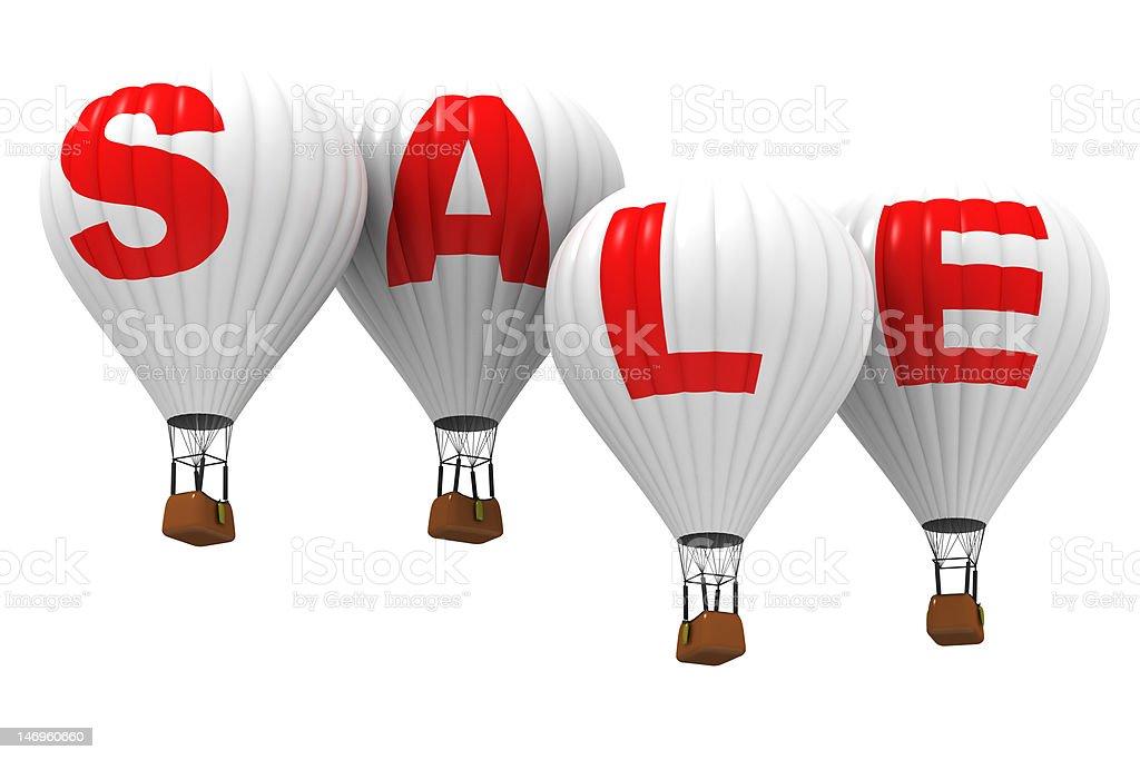 SALE - Hot air balloons royalty-free stock photo