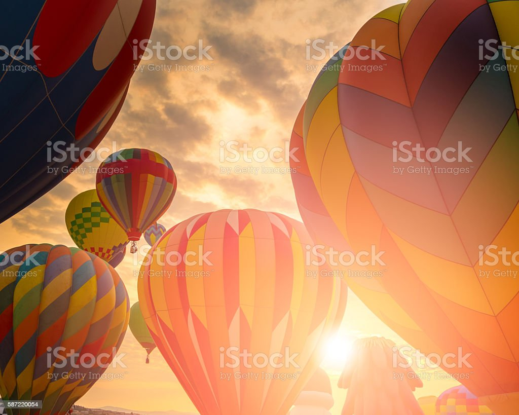 Hot air balloons bildbanksfoto