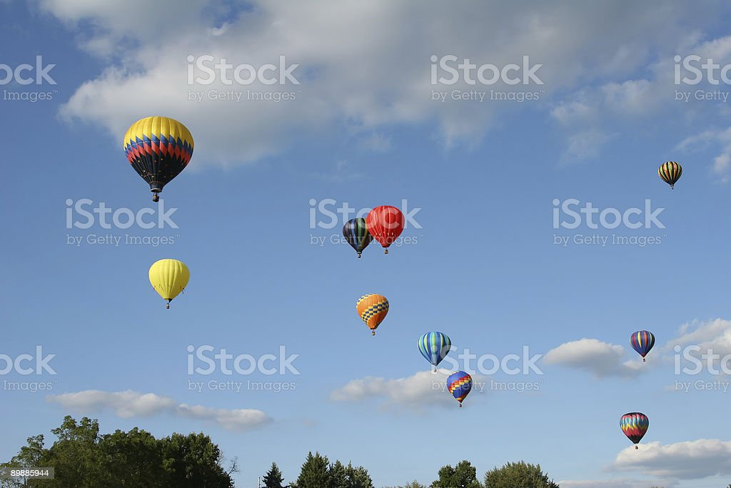 hot air balloons royalty-free stock photo