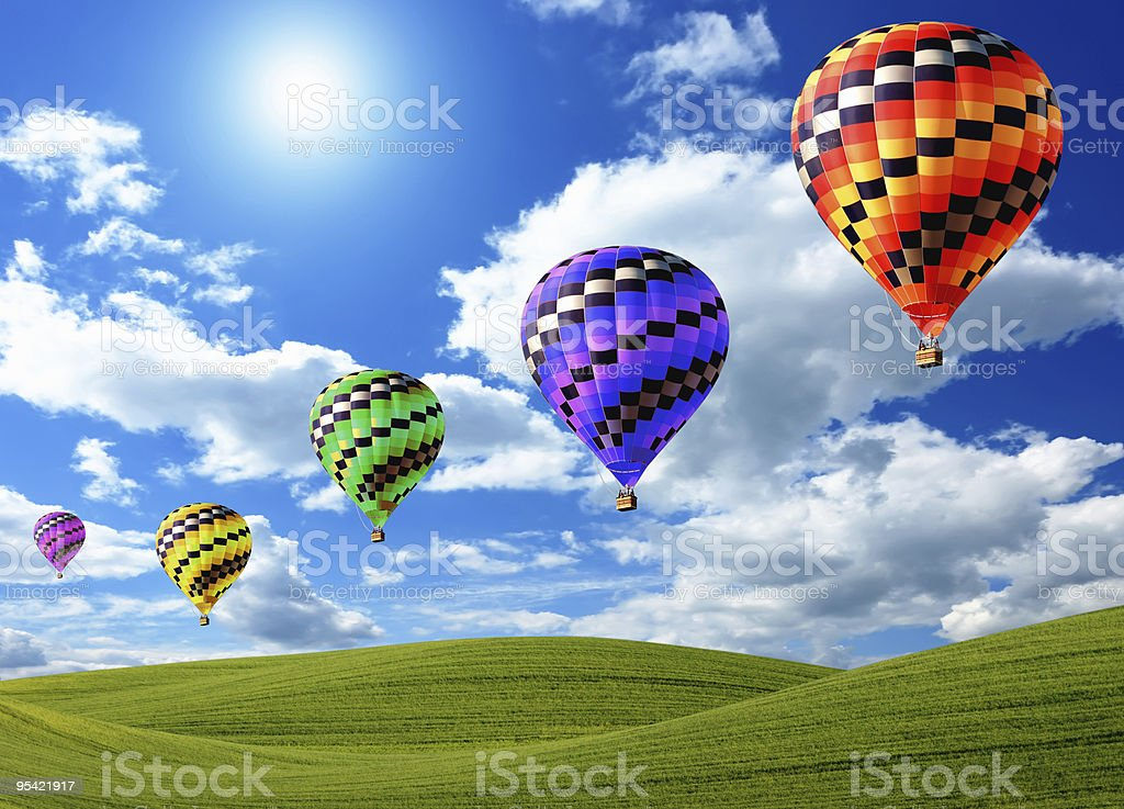 Heißluftballon Lizenzfreies stock-foto