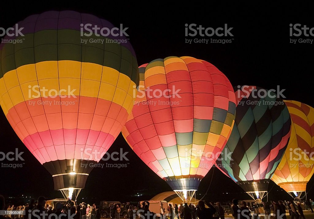 Hot Air Balloons - Predawn Glow Show royalty-free stock photo