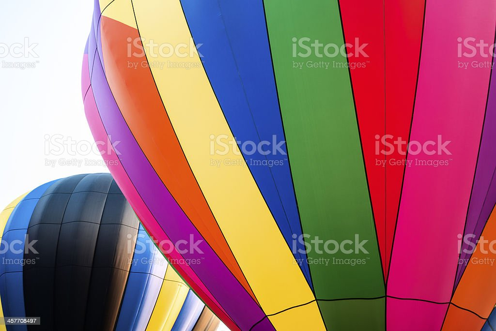 Hot air balloons ready to be launched royalty-free stock photo