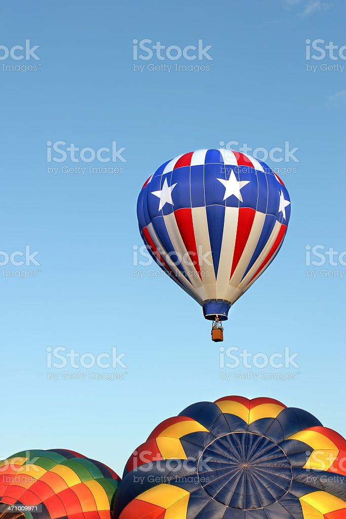 hot air balloons - stars and stripes royalty-free stock photo