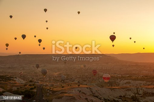 1035635902 istock photo Hot Air Balloons To Fly over Cappadocia 1031916442