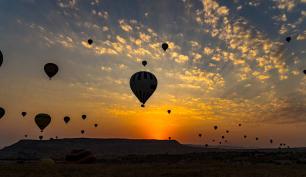 Hot Air Balloons To Fly over Cappadocia Hot Air Balloons To Fly over Cappadocia transvaal province stock pictures, royalty-free photos & images