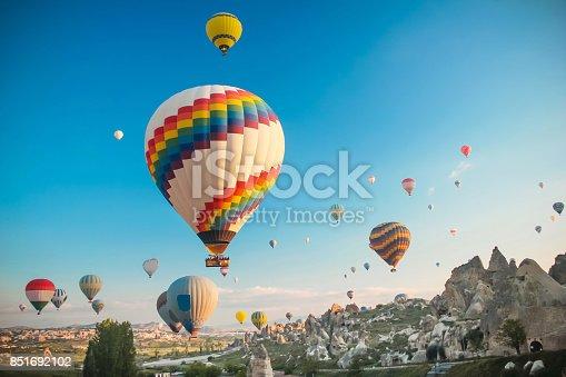 istock Hot air baloon in Cappadocia 851692102