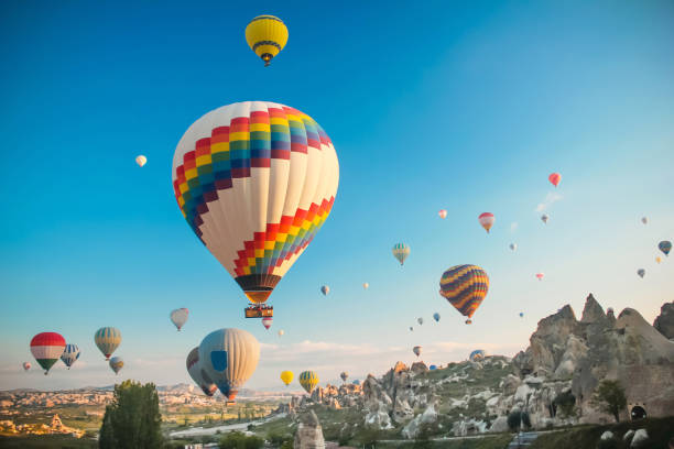 Hot air baloon en Capadocia - foto de stock