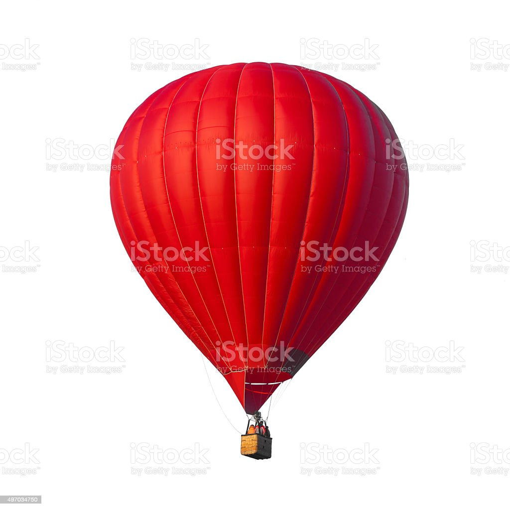Hot Air Red balloon stock photo